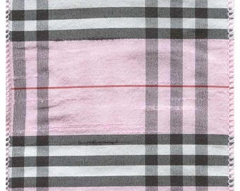 "4"" Wired Pink Plaid Ribbon - 10 Yards"