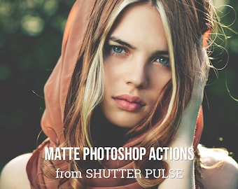 Matte Photoshop Actions - Adobe Photoshop Actions
