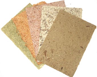 20 A4 sheets Handmade Plant Fibre Recycled Paper, Recycled Homemade Paper, Gift Paper, Natural Fibre Paper, Collage paper, Scrapbooking