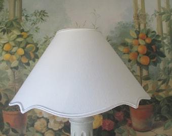 LAMP shade white braces - 25 cm diameter - handmade - customizable