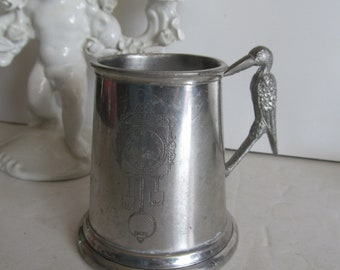 Victorian Antique Baby Cup Victorian Silver Cup Engraved Pewter Cup Antique Childs Cup Baby Cup Baby Shower Gift Personalized baby gift