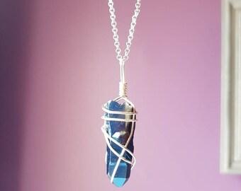 Blue Iris Quartz Necklace