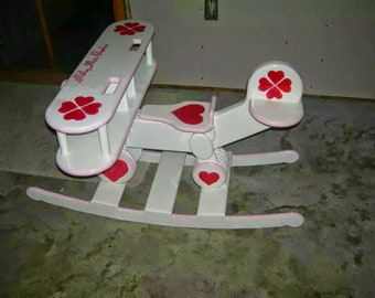 Rocking Bi-Plane Custom & Personalized to your child's interests