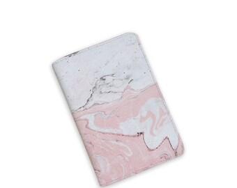 Marble Passport Cover - Passport Holder - Travel Passport - Faux Leather Cover - Wanderlust Passport - by HeartOnMyFingers - APP-PPC-050