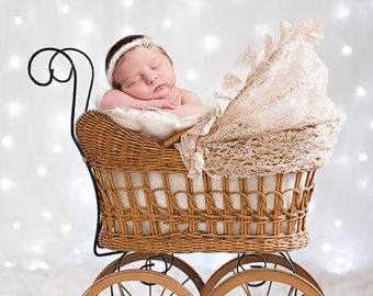 Digital newborn backdrop