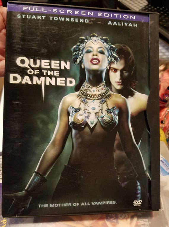 Queen Of The Damned dvd Vampire horror movie Aaliyah Stuart Townsend