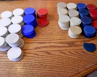 240+ antique vintage poker chips