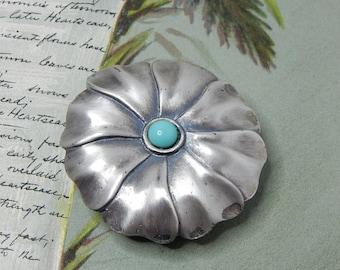 Vintage REVLON JONTUE Silver Perfume Compact Pendant.   NDH10