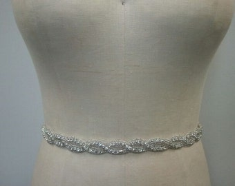 SALE - Wedding Belt, Bridal Belt, Sash Belt, Bridesmaid Belt, Crystal Rhinestone - Style B127