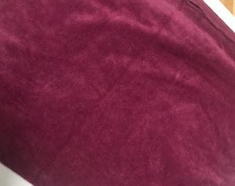 Velour Fabric - Wine Velour - 2.0 yards - Vintage
