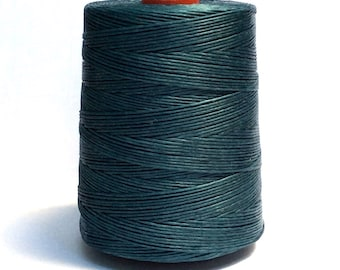100 meters ≈ 110 yards / 1mm Dark Blue Waxed Cord / Cotton Waxed Cord