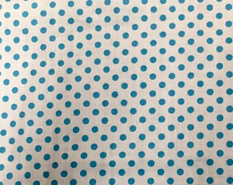 Vintage Polka Dot Fabric Aqua Turquoise Blur
