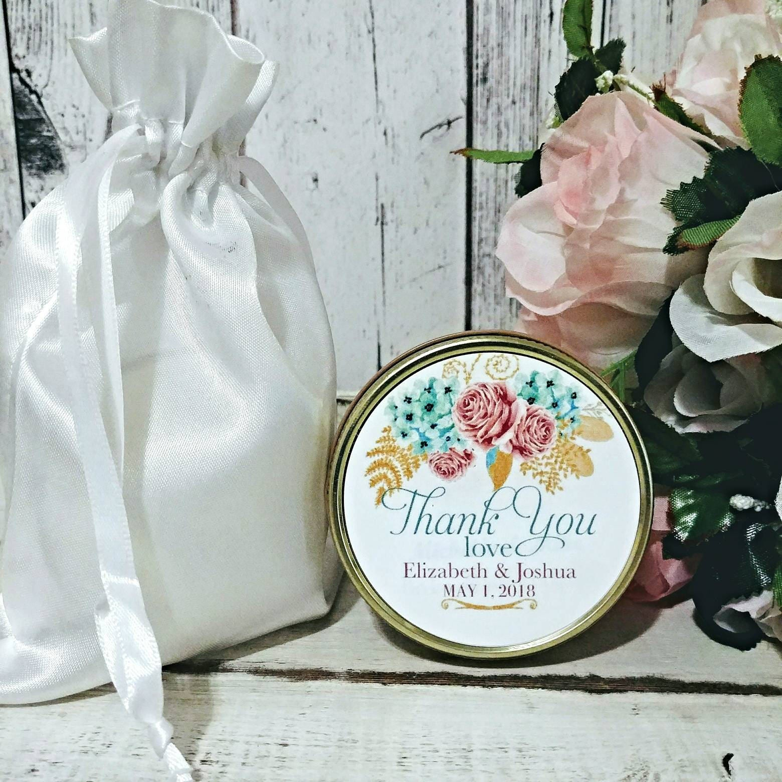 Spring Wedding Favors - Rose Gold Wedding - Floral Wedding Favors ...