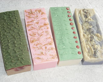 4 SOAP LOAVES - 2.5 lb. loaves / 10 lbs. total / Bulk Soap / Wholesale Soap / 32 to 36 bars / Favors / Cold Process Soap