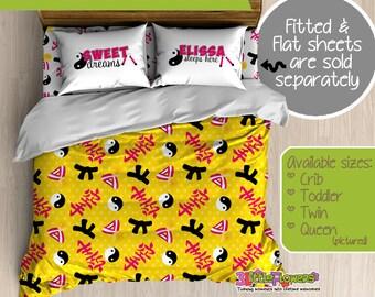 Karate Custom Comforter/Duvet - Kids Comforter - Kids Duvet - Customized Children Bedding - Kids Pillowcase - Karate Bedroom Decor