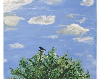Midsummer Crow, Greeting Card