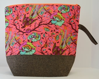 Bright Floral Extra Large Project Bag