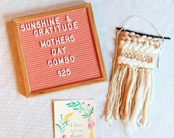 Mother's Day Combo    Weaving and 5x7 Print    Home Decor