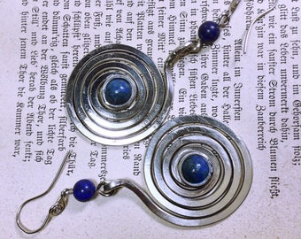 Earrings spiral with LapizLazuli