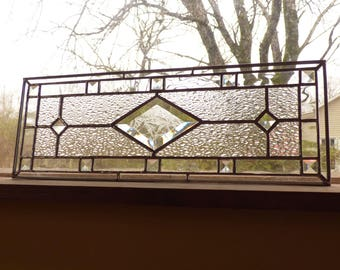 Textured Stained Glass Sidelight / Transom - Contemporary Panel