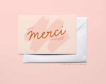 Merci (Thank You) card - 10 x 15 cm