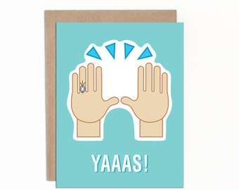 Funny Engagement Card, Bridal Shower Card, Wedding Shower Card, Congratulations Engaged Card, Finally Engaged Card, Funny Wedding Card
