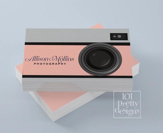 Photographer business card design camera business card colourmoves Choice Image