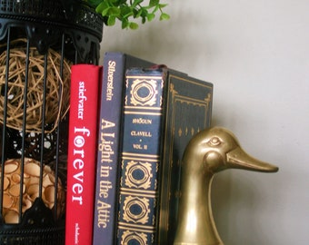 Vintage Brass Duck Bookend