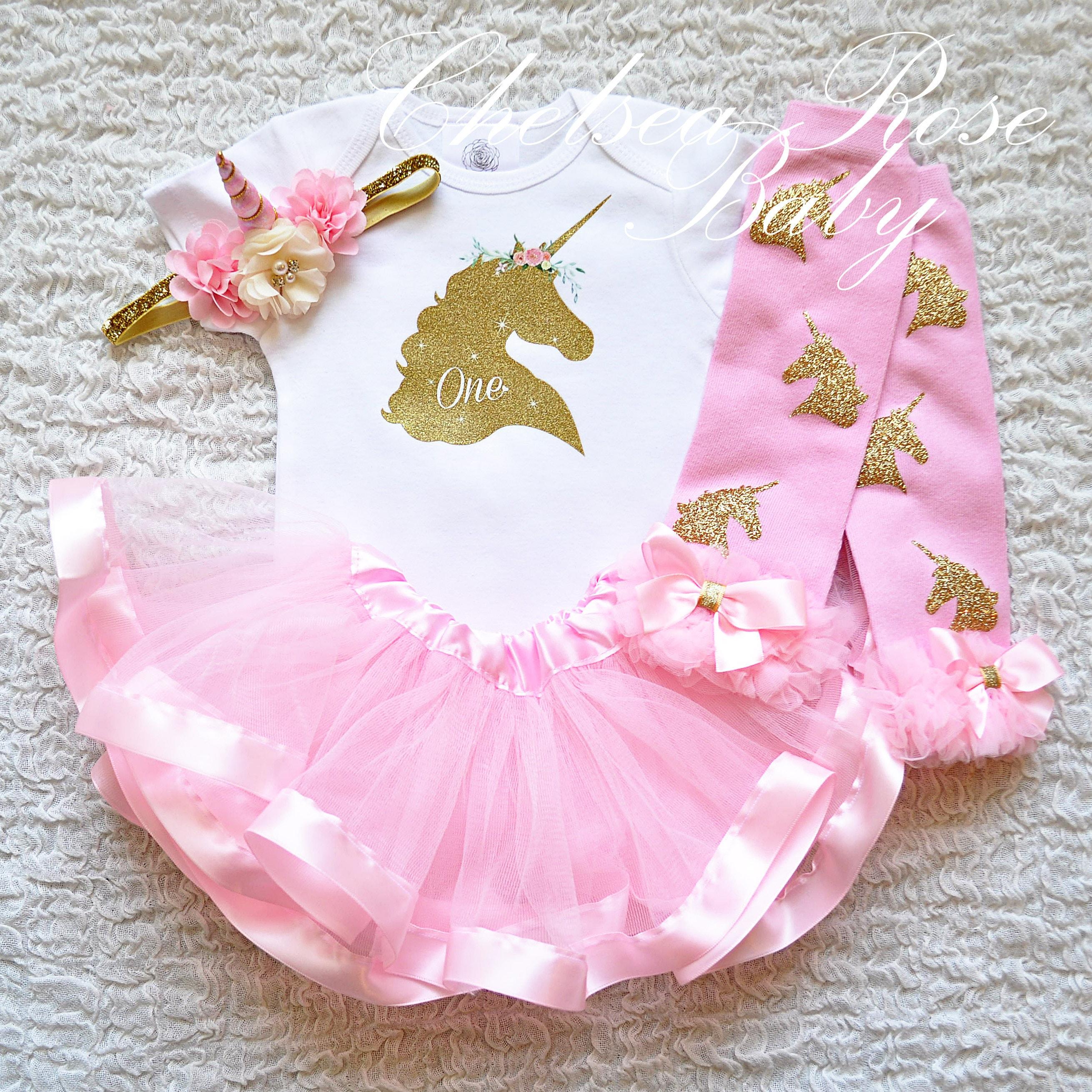 1 traje de cumpleaños Unicornio unicornio camisa cabeza de