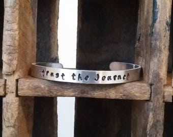 HANDSTAMPED - trust the journey - Bangle