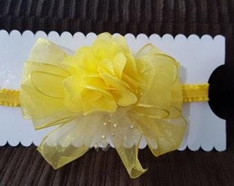 Embellished Yellow Headband