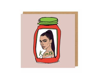 Kim Kardashian Card, Birthday card, Birthday, Humour, Funny cards, Celebrity puns, Puns, Punny, Kardashian card.