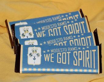Printable Customizable Cheerleading Candy Bar Wrapper