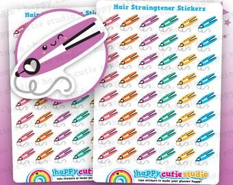 48 Cute Hair Straighteners Planner Stickers, Filofax, Erin Condren, Happy Planner,  Kawaii, Cute Sticker, UK
