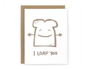 Loaf Letterpress Card