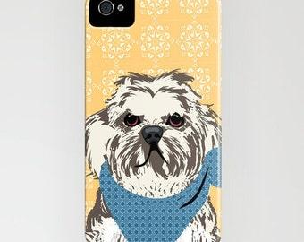 Shih Tzu Dog on Phone Case - Shih Tzu, Samsung Galaxy S7, Gift Ideas , iPhone 6S, iPhone 6 Plus, floral case , iPhone 8