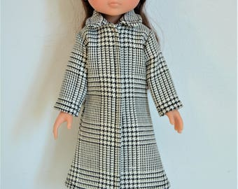 "Handmade Doll Clothes Coat fits 13"" Corolle Les Cheries Dolls Christmas F"