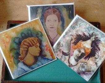 Set of 6 Intrepid Women Greetings Cards