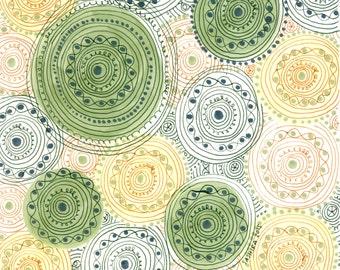 Green Mandala Art - Mandala Art - Mandala Wall Art - Bohemian Art - Hand Drawn Mandala - Meditative Wall Art - Meditation Art - Original