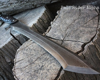"Handcrafted FOF ""Pale Rider Alpha"" Full Tang tactical and survival blade."