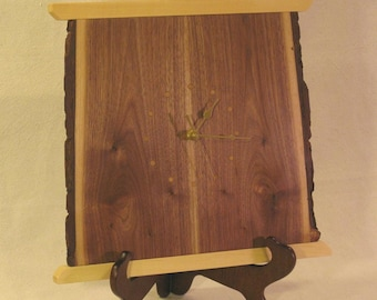 Rustic Walnut Wall Clock