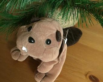 Toy Beaver Vintage Stuffed Animal Cute Beaver Toy