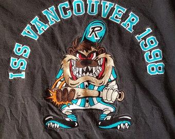Vintage taz t shirt, Tasmanian devil, Looney tunes, Warner bros, cartoon t shirts, baseball tees, 90s, size large