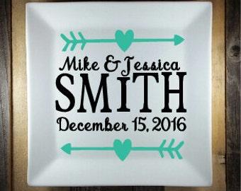 Custom Wedding Plate, Personalized Ceramic Plate, Custom Plate, Custom Personalized Plate, Quote Plate, Sayings Plate, Decorative Plate