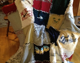 Made to order T-Shirt Ragtop Memory or Keepsake  Quilt