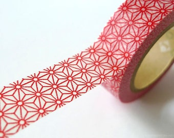 Christmas Holiday Red washi tape RED STAR Japanede Washi Tape Paper Tape masking tape scrapbooking 15mm
