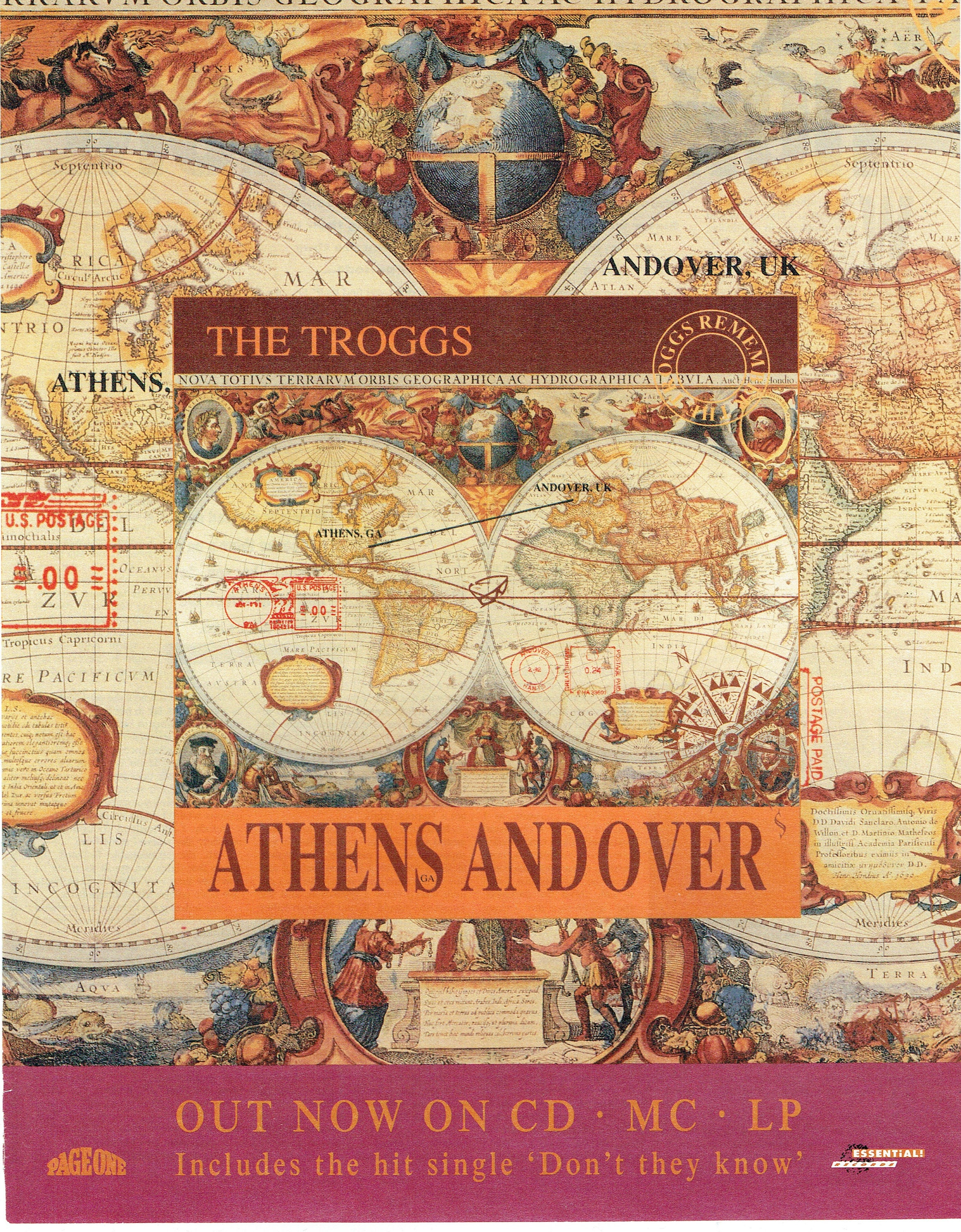 1992 Advertisement The Troggs Athens And Over Andover UK CD Ad