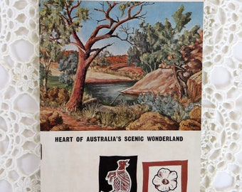 Vintage 1960s Alice Springs holiday booklet - outback Central Australia