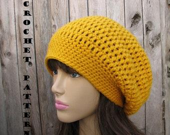 CROCHET PATTERN- Slouchy Hat, Crochet Pattern PDF,Easy, Great for Beginners, Pattern No. 34