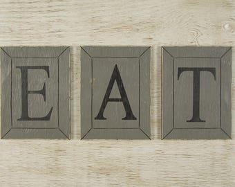 Farmhouse Eat Sign Kitchen Decor Wood Eat Sign Kitchen Wall Decor Rustic  Eat Sign Housewarming Gift